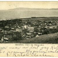 General View of Ventura, 1906 postcard