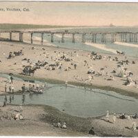 Beach Scene, Ventura, Cal. 1908