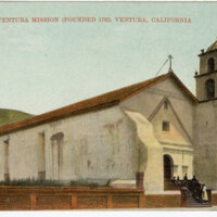 San Buenaventura Mission (Founded 1783) Ventura, California Post Card