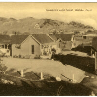 Shamrock Auto Court Postcard