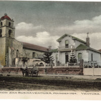 Mission San Buenaventura, Ventura Post Card