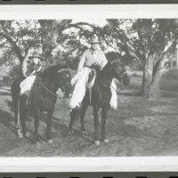 Katherine L. Hoffman and Walter H. Hoffman, Jr. on Horseback at Rancho Casitas