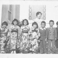 Children at Japanese Methodist Church Group Photo