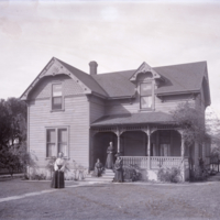 House with Women in the Front Yard