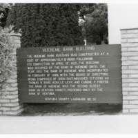 Historical Marker for Hueneme Bank Building
