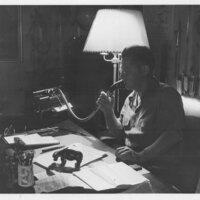 Erle Stanley Gardner at Desk