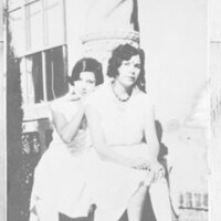 Two Young Women Sitting on Steps, 1932