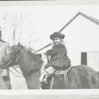 Walter H. Hoffman, Jr. and Katherine Louise Hoffman On Horseback