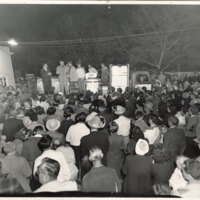 Crowd Waiting at an Appliance Drawing at Veever's Service Station on East Main Street