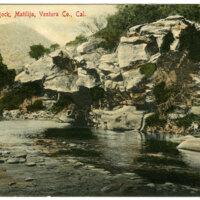 Overhanging Rock postcard