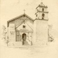 Mission San Buenaventura Drawing
