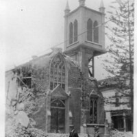 Church of Our Lady of Sorrow, Santa Barbara Earthquake Damage postcard