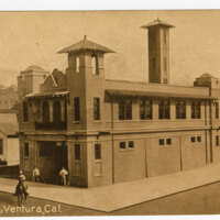 Fire House, Ventura, Cal. Post Card