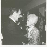 Katherine Hoffman Haley with President George H.W. Bush
