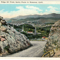 Oak Ridge Oil Field Postcard