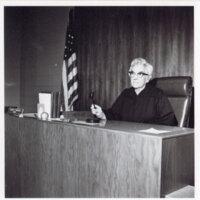 Judge Alice Magill, side view