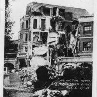 Arlington Hotel, Santa Barbara Earthquake Damage postcard