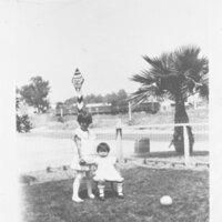 Irene and Eva Sanchez as Children
