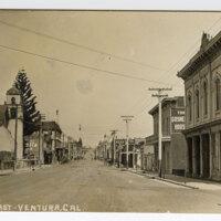 Main St. East, Ventura, Cal. Post Card