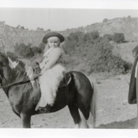 Katherine Hoffman Haley on a Pony