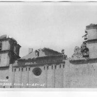 Mission Santa Barbara Earthquake Damage postcard