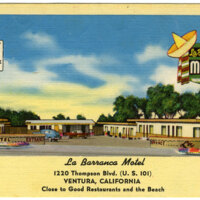 La Barranca Motel Postcard