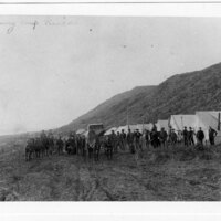 Southern Pacific Railroad Surveying Camp on Rincon