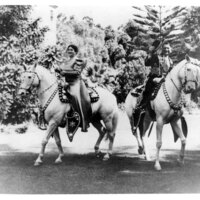 Adolfo Camarillo and Carmen Camarillo on Horseback