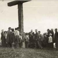 Father Grogan Consecrating Hill Cross & Tablet