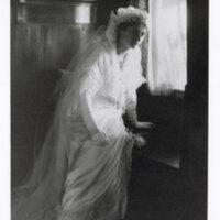 Edith Hobson Hoffman in Wedding Gown