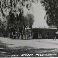 Main Street, Moorpark, California postcard