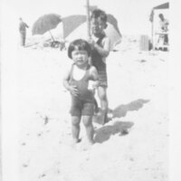 George and Jean Inadomi at Oxnard Beach