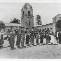 Children's Band at May Henning School, Ventura, 1949