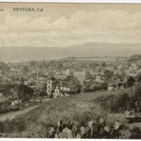 Bird's Eye View Ventura Post Card