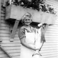 Marguerite Welton Holding a Fish