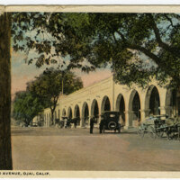 Arcade, Ojai Avenue postcard