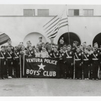 Ventura Police Boys' Club with Chief of Police Thomas W. Neel and Sgt. Anthony Natale