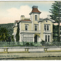 Residence in Ventura in Winter postcard