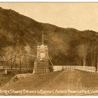Casitas County Bridge Showing Entrance To Eugene C. Foster's Memorial Park, Ventura,Cal. Post Card