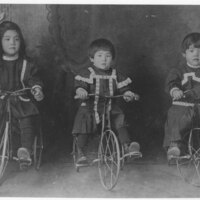 Takeda Children on Tricycles