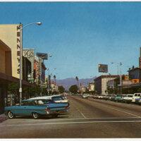Downtown Oxnard Street View Postcard