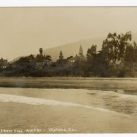 A Scene From The Wharf-Ventura, Cal. Post Card