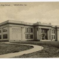 Ventura Union High School,Ventura, CAl. Post Card
