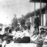 The Sheridan family at the beach