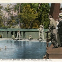 Swimming Pool, Sulphur Mt. Springs postcard