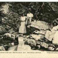 Genoveva Spring at Wheeler's postcard