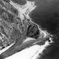 Aerial View of Highway 1 at Mugu Rock