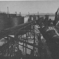 Loading Oil on Railroad Tank Cars