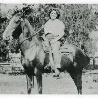 Ruby Vanegas on Horseback