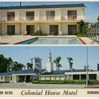 Colonial House Motel postcard
